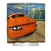 Tesla Car Shower Curtain