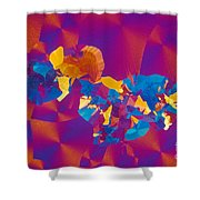 Testosterone Crystal Shower Curtain