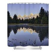Tetons Over The Beaver Pond Shower Curtain