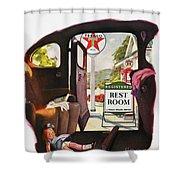 Texaco Advertisement, 1938 Shower Curtain