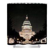Texas Capitol Building At Night - Horz Shower Curtain