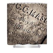 Tcm - C.c. Mason Grave Shower Curtain