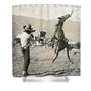 Texas: Cowboy, C1910 Shower Curtain