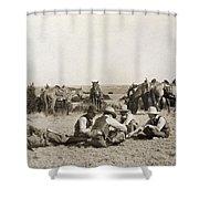 Texas: Cowboys, C1906 Shower Curtain