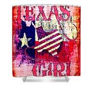 Texas Girl Shower Curtain