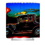 Texas Hot Rod Shower Curtain
