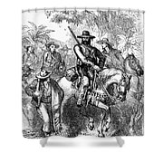 Texas: Mexican Filibusters Shower Curtain