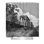Texas Railroad Bridge Shower Curtain