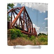 Texas Train Trestle 13984c Shower Curtain