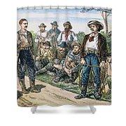 Texas Vigilantes, C1881 Shower Curtain