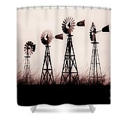 Texas Windmills Shower Curtain by Tamyra Ayles