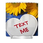 Text Me Shower Curtain