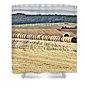 Textured Fields Of France Shower Curtain