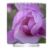 Textured Flowerr Shower Curtain