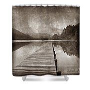 Textured Lake Shower Curtain