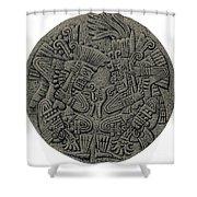 Tezcatlipoca And Huitzilopochtli Shower Curtain by Photo Researchers