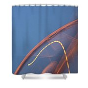 Thai Bridge Abstract  Shower Curtain