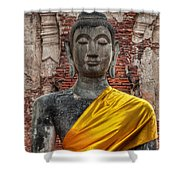 Thai Buddha Shower Curtain by Adrian Evans