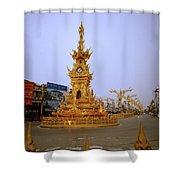 Thai Clock Tower  Shower Curtain