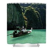 Thai Long Tail Boat  Shower Curtain