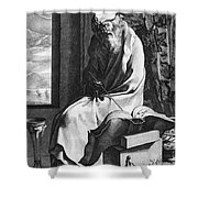 Thales Of Miletus, Greek Polymath Shower Curtain by Science Source