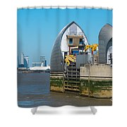 Thames Barrier Shower Curtain