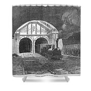 Thames Tunnel: Train, 1869 Shower Curtain