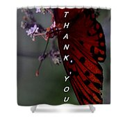 Thank You Card - Butterfly Shower Curtain