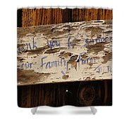 Thank You For Supporting Our Family Farm Shower Curtain