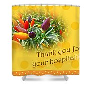 Thank You For Your Hospitality Greeting Card - Decorative Pepper Plant Shower Curtain