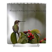 Thank You Note Shower Curtain