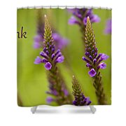 Thank You Wildflowers Shower Curtain