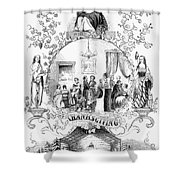 Thanksgiving, 1852 Shower Curtain