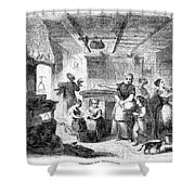 Thanksgiving, 1855 Shower Curtain