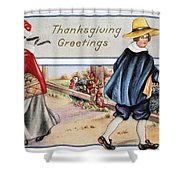 Thanksgiving, C1900 Shower Curtain
