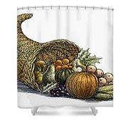 Thanksgiving: Cornucopia Shower Curtain
