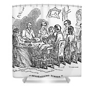 Thanksgiving Dinner, 1850 Shower Curtain