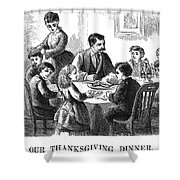Thanksgiving Dinner, 1873 Shower Curtain