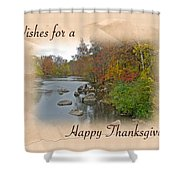 Thanksgiving Greeting Card - Autumn Creek Shower Curtain