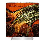 Thanksgiving Greeting Card Shower Curtain