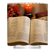 Thanksgiving Psalm 18 Shower Curtain