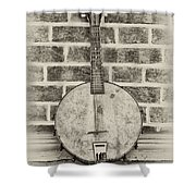 That Old Banjo Mandolin Shower Curtain