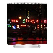 The 5 Point Cafe Shower Curtain