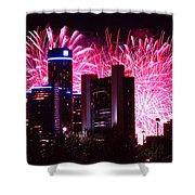 The 54th Annual Target Fireworks In Detroit Michigan Shower Curtain