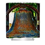 The Academy Bell Fractal Shower Curtain