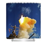 The Aegis-class Destroyer Uss Hopper Shower Curtain