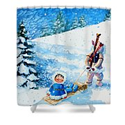 The Aerial Skier - 1 Shower Curtain
