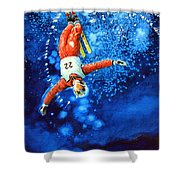 The Aerial Skier 20 Shower Curtain