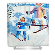 The Aerial Skier - 6 Shower Curtain