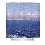 The Albanian Sea Shower Curtain